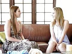 Lesbian Babysitters #08, Scene #01. Samantha Ryan, Alyssa Reece