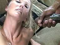 This horny MILF loves a hard black cock